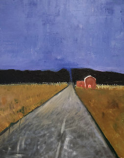 Coming Home 1999 48x36 Original Painting - William DeBilzan