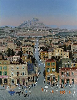 Athens 1896 Olympics Limited Edition Print - Michel Delacroix