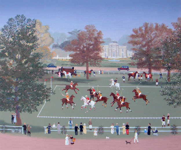 Polo at bagatelle 1990 by michel delacroix for Best way to sell your art online
