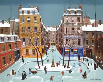 La Place Furstenburg 1975 Limited Edition Print - Michel Delacroix
