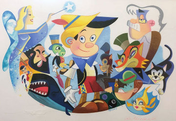 Pinocchio's World From Walt Disney Limited Edition Print - Robert de Michiell