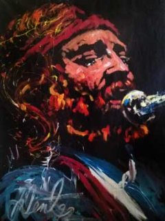 Willie Nelson 1992 69x52 Original Painting - Denny Dent