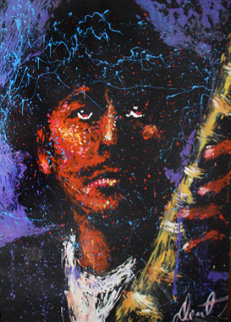 Santana With Hat 2001 76x58 Original Painting - Denny Dent