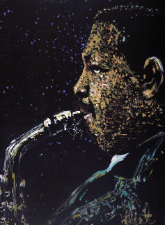 Julian Cannonball Adderley 1987 35x48 Original Painting - Denny Dent