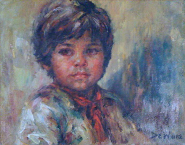 Untitled Portrait of a Boy 1980 19x23
