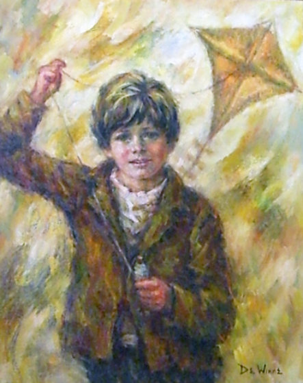 Boy with a Kite 1974 34x29