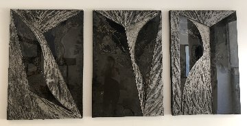 Untitled Set of 3 Cement Sculptures 48x96 Sculpture - Laddie John Dill