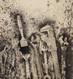 New French Tools 3-For Pep  1984 Limited Edition Print - Jim Dine