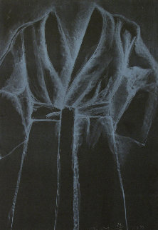 White Robe on Black 1977 Limited Edition Print - Jim Dine