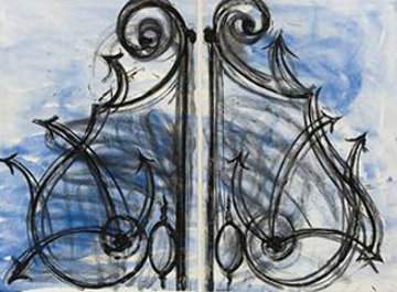 Blue Detail From the Crommelynck Gate 1982 Limited Edition Print - Jim Dine