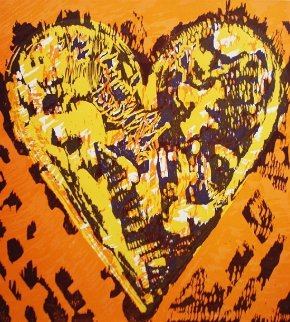 Heart For Film Forum (2 graphics in same frame) 1993 27x39 Limited Edition Print - Jim Dine