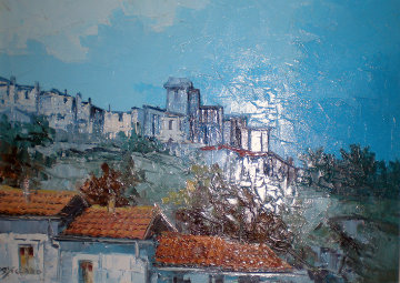 Veduto / The View 23x32 Original Painting - Antonio Di Viccaro