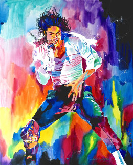 Michael Jackson Wind 2010 30x24 Original Painting by David Lloyd Glover