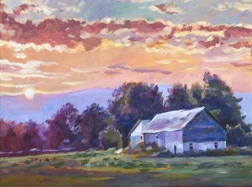 Days End Original Painting - David Lloyd Glover