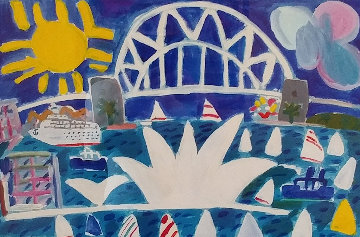 Sydney Harbour Scene Original Painting - Ken Done