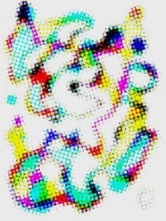 Abstract Negative Pointillism 2 Limited Edition Print - Neal Doty