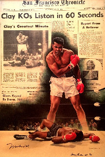 Clay KO\'s Liston in 60 Seconds AP 2004 HS by Ali Limited Edition Print - Doug London