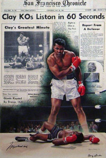 Muhammed Ali - Cassius Clay KO's Sonny Liston in 60 Seconds HS Limited Edition Print - Doug London