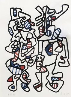 Parade Nuptiale 1973 Limited Edition Print - Jean DuBuffet