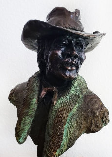 Buffalo Solider  Corporal Graves Bronze Sculpture 1980 12 in Sculpture - Ed Dwight