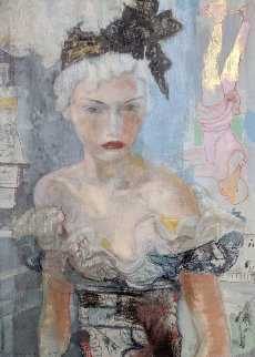 Behind the Scenes 2004 38x32 Original Painting - Charles Dwyer