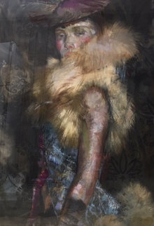 In Her Sights Painting 1999 48x36 Original Painting - Charles Dwyer