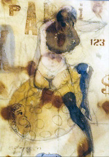 Anita Dollar Watercolor 2003 31x26 Works on Paper (not prints) - Charles Dwyer