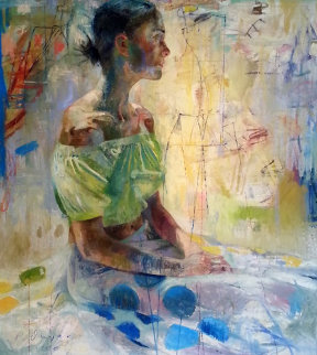 Scientific Tailor 2000 78x73 Original Painting - Charles Dwyer