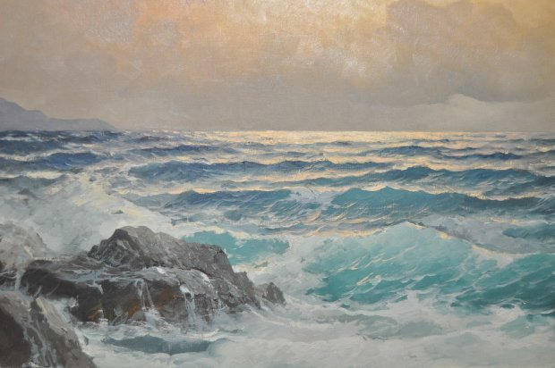 Crashing Waves 1955 31x43