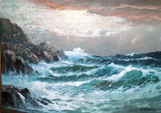 Untitled Seascape By Alex Dzigurski Sr