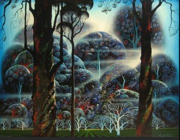 Mist in the Dark Woods 1992 Limited Edition Print by Eyvind Earle