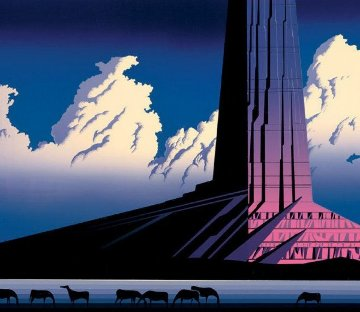 Purple Monument 1986 Limited Edition Print - Eyvind Earle