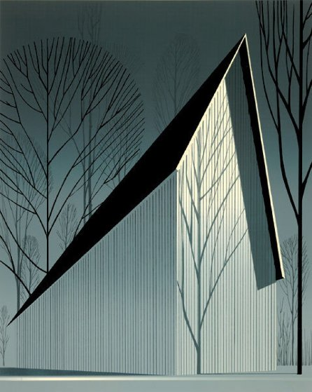 Pearl 1983 Limited Edition Print by Eyvind Earle