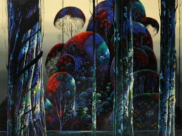 Trees Draped in Autumn AP 1990 Limited Edition Print - Eyvind Earle