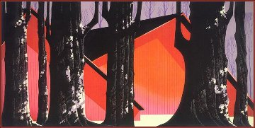 Winter Barnyard 1991 Limited Edition Print - Eyvind Earle