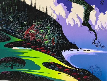 Barns By the Sea 1989 Limited Edition Print - Eyvind Earle