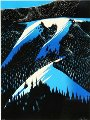 Black Evergreen Forest 1981 Limited Edition Print - Eyvind Earle