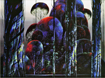Trees Draped in Autumn 1990 Limited Edition Print by Eyvind Earle