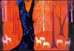 Seven White Horses 1982 Limited Edition Print - Eyvind Earle