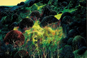 Autumn Fields 1990 AP Limited Edition Print - Eyvind Earle