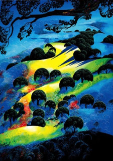Fading Sunset Flame AP 1995 Limited Edition Print - Eyvind Earle