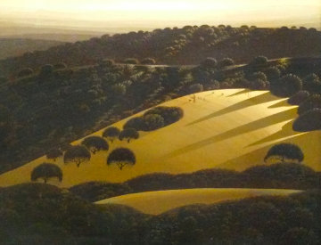 Santa Ynez Valley 1977 16x20 Original Painting - Eyvind Earle