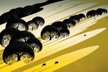 Cattle Country 1983 Limited Edition Print - Eyvind Earle