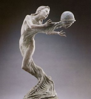 Gaia's Breath Bronze Sculpture 1995 28x14 Sculpture - Martin Eichinger