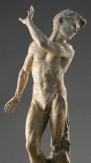 Dance of Yes And No:He Bronze Sculpture 2001 41 in   Sculpture - Martin Eichinger