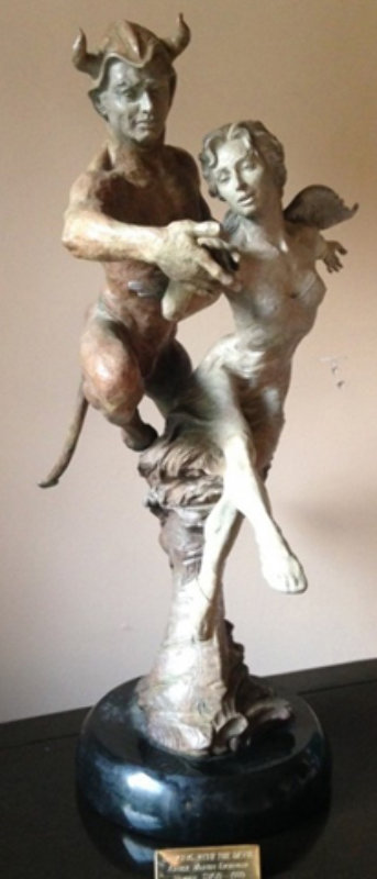 Dancing With the Devil Bronze Sculpture 1999 26 in