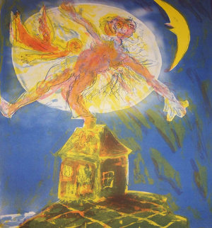 Moonbeam Passing PP 1992 Limited Edition Print - Erwin Eisch