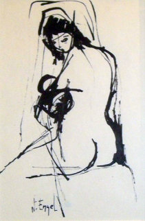 Nude Woman Drawing 8x4 Drawing - Nissan Engel