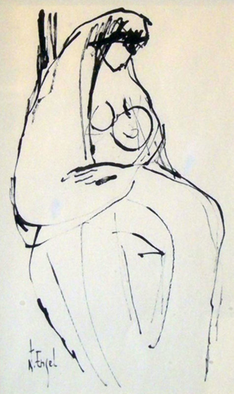 Untitled Drawing (Mother and Child)