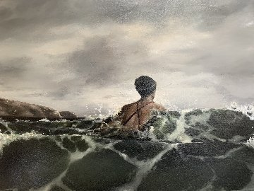 Pushing Through 2002 39x48 Original Painting - Eric Zener